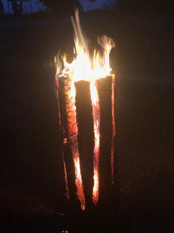 Brennende Finnenkerze