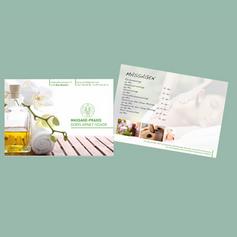 Flyer für Massagepraxis in Biel Benken