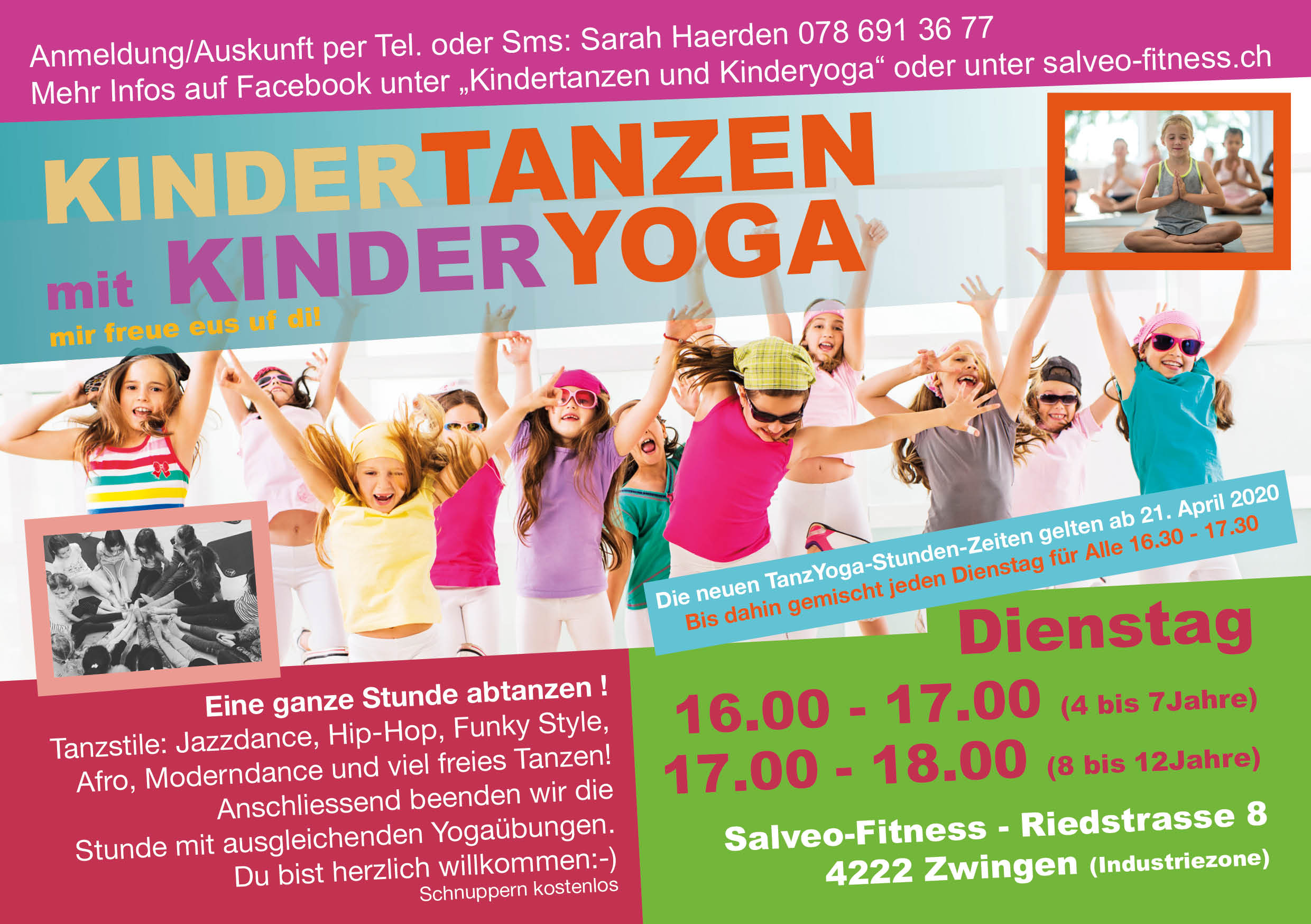 Flyer Kindertanzen Salveo