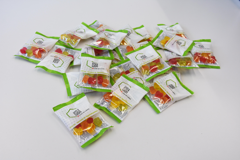 Verpackung für Werbegeschenke/Fruchtgummis