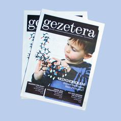 Gesamtgestaltung der Zeitung Gezetera