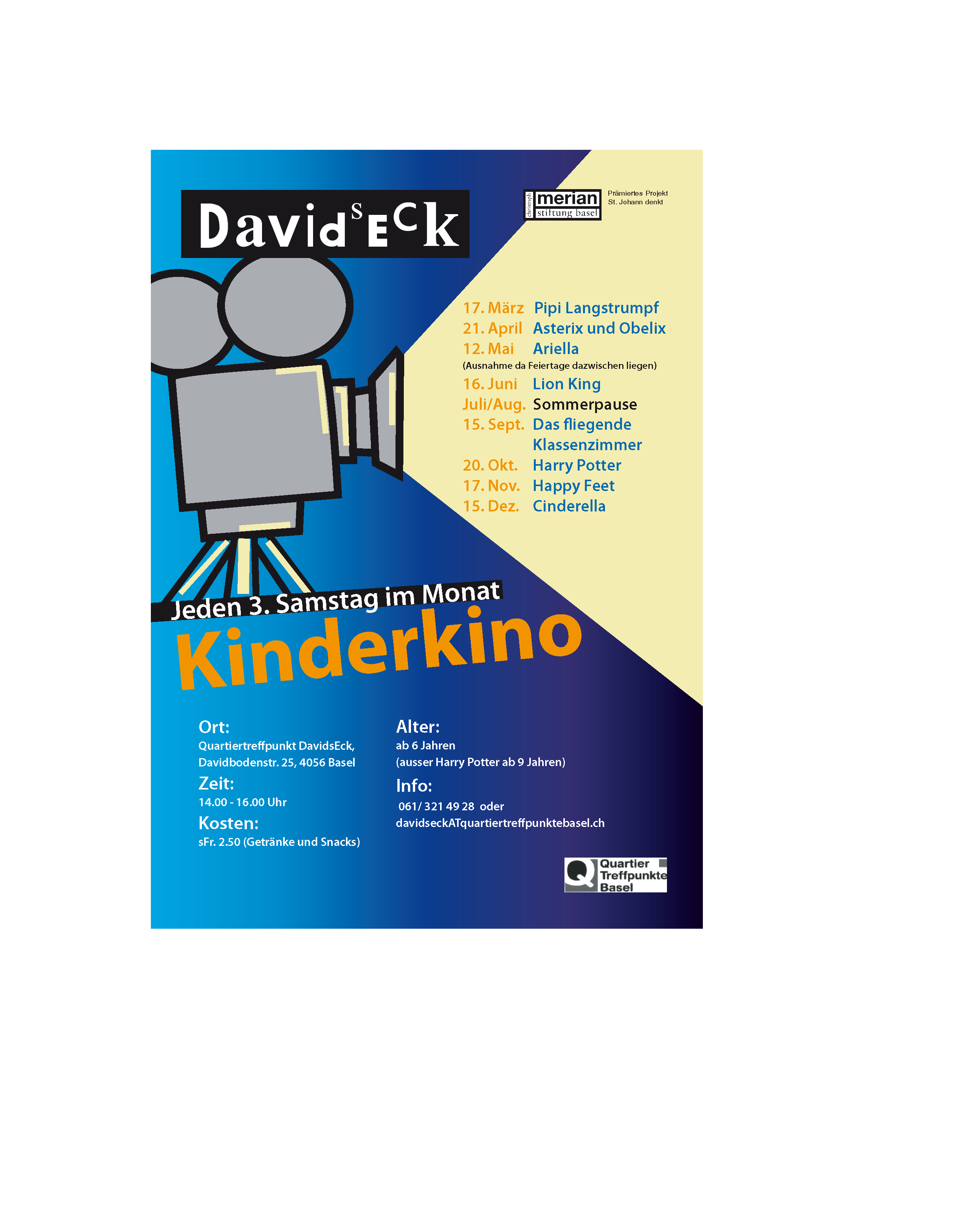 Flyer Kinderkino Basel