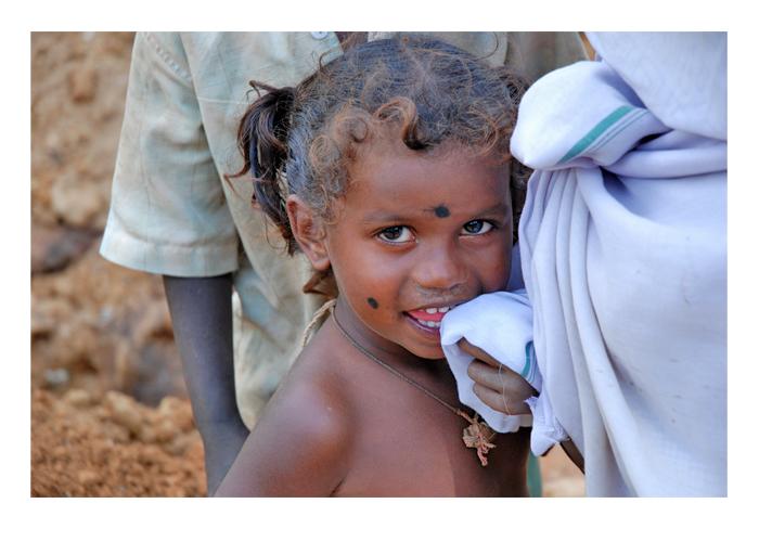Strassenkind in Indien