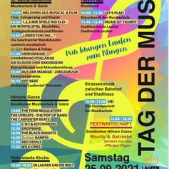 Plakat für die Regionale Musikschule Laufental-Thierstein.