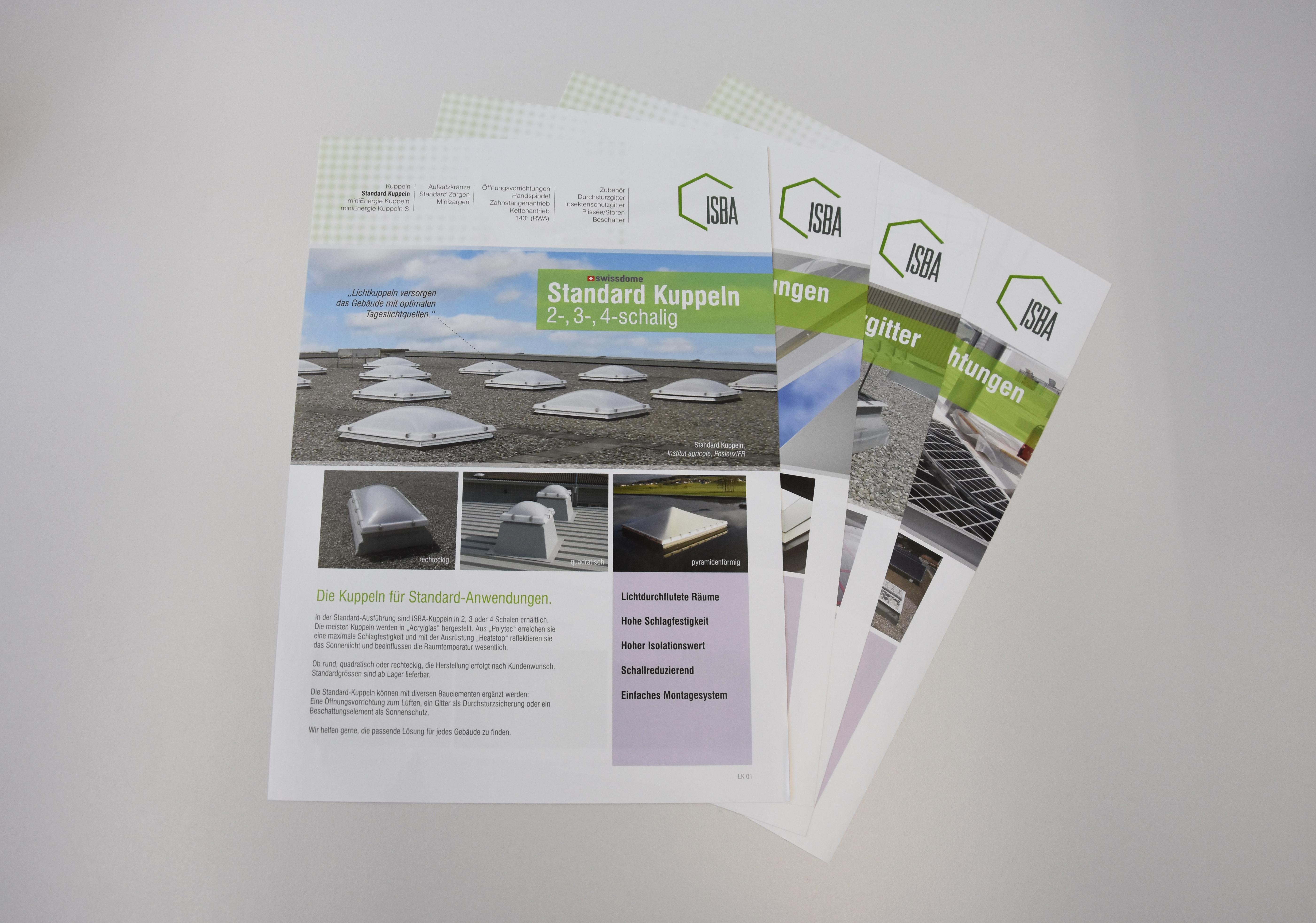 Konzept/Aufbau Factsheets mit technischen Informationen und Bildwelten