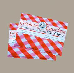 Flyer für Pizzeria-Gutschein