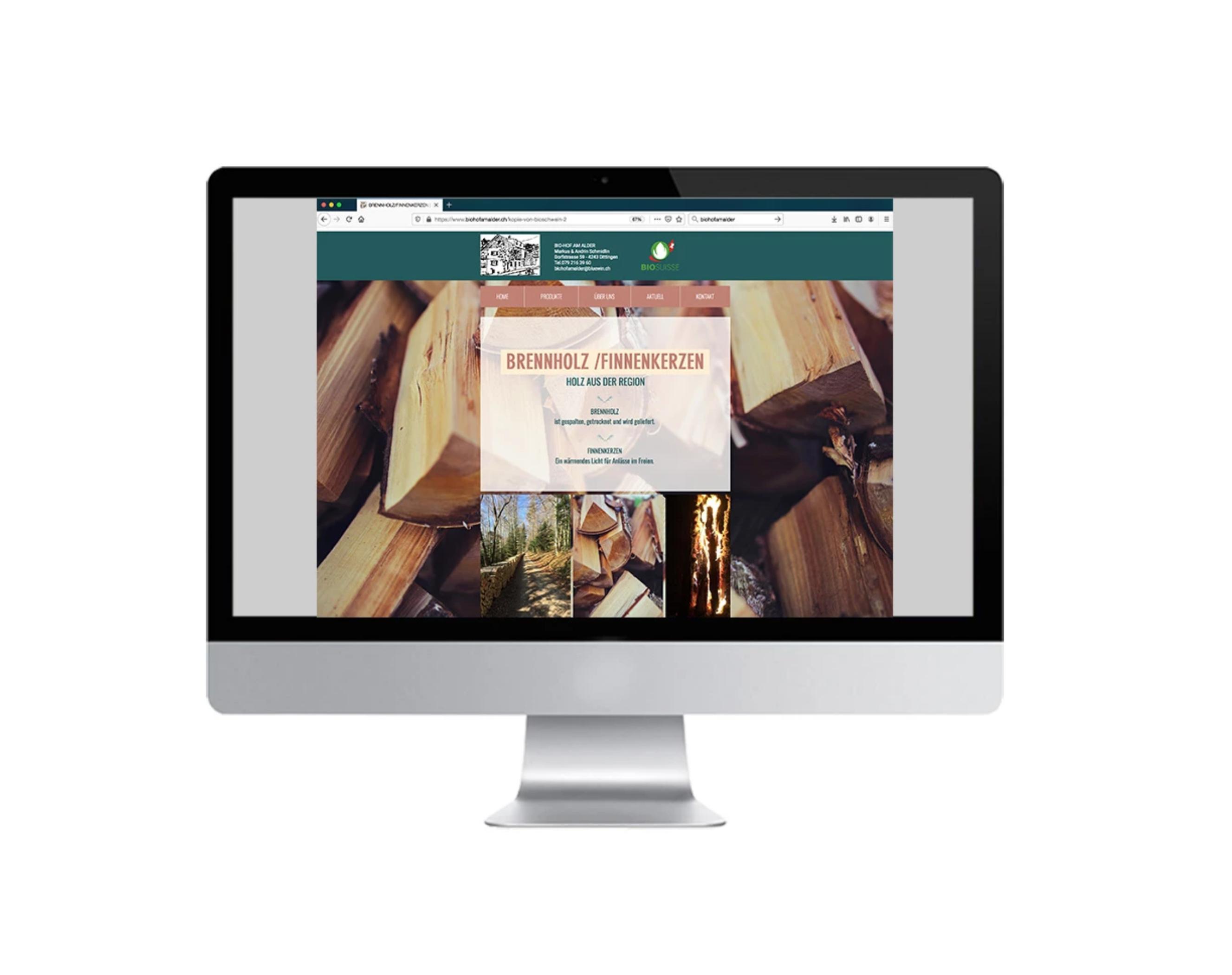 Webshop für den Biohof am Alder in Dittingen