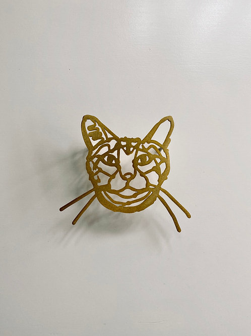 HAyU plate・トラネコ(gold)