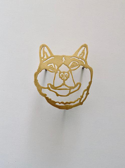 HAyU plate・シバイヌ (gold)