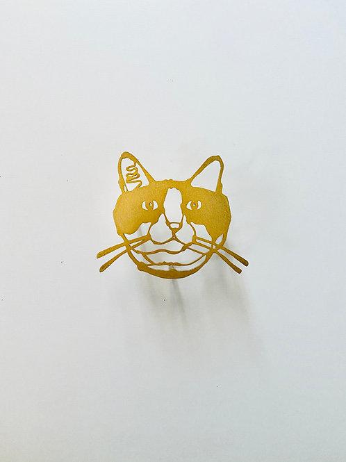 HAyU plate・ハチワレネコ (gold)