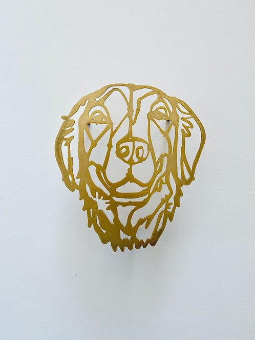 HAyU plate・ゴールデンレトリバー(gold)