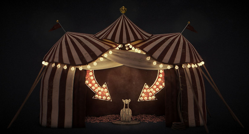steam punk circus tent