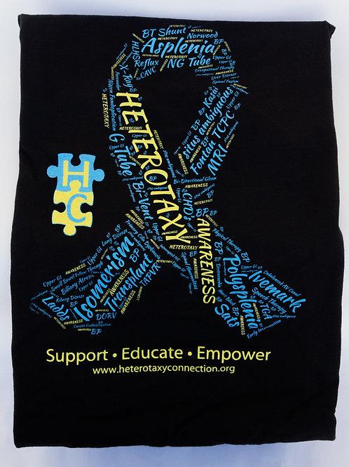 Awareness T-Shirt with Word Ribbon