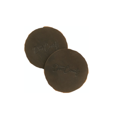 Brown Door County Leather Coasters
