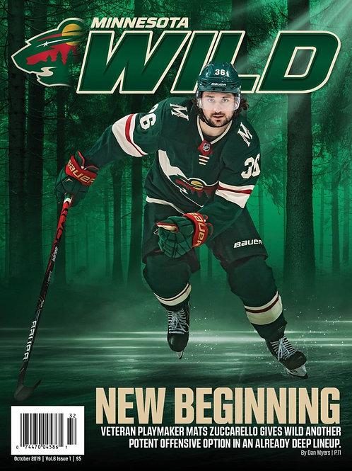 Minnesota Wild Magazine Subscription 2019-2020