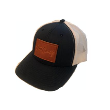 Door County Hat - Navy/White