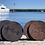 Thumbnail: Brown Door County Leather Coasters