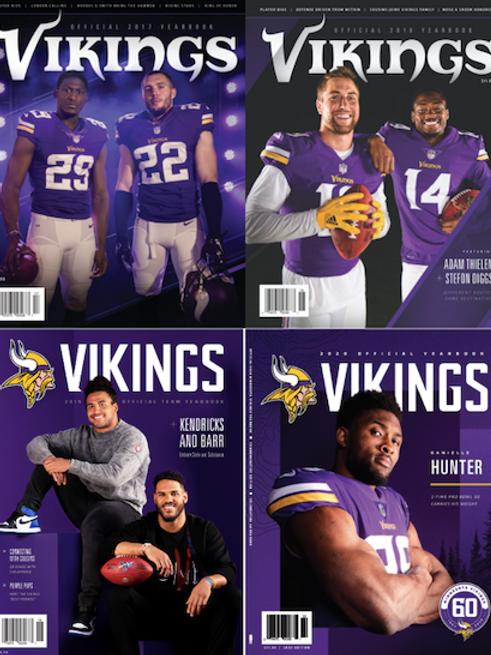 2017-2020 Vikings Yearbook Bundle