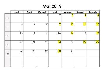 calendrier mai 2019 la valsedesaromes.jp