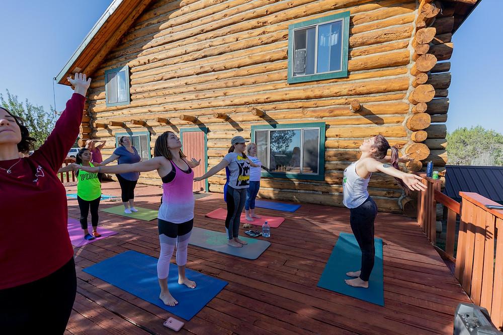 Teaching at a retreat in Durango, Colorado