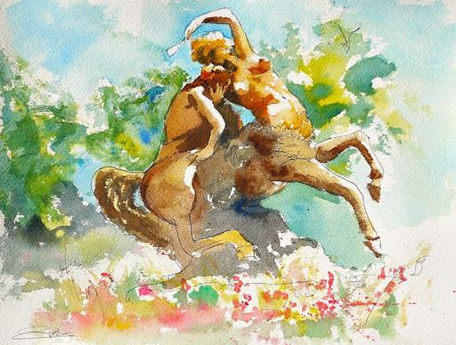 Centauresse et Faune au Parc de la Tête d'or