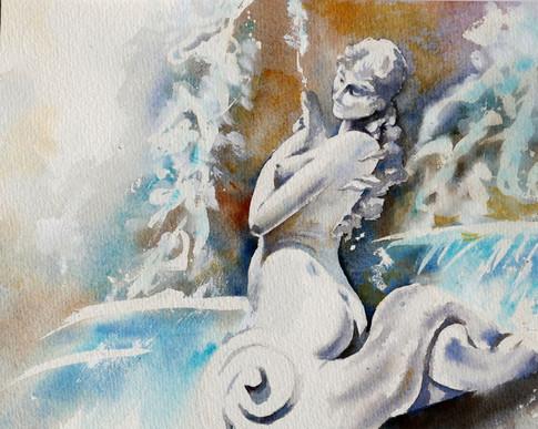Sirène de la fontaine
