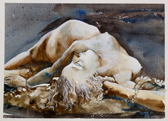 femme piquée par un serpent (Louvre)
