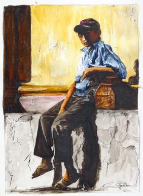 Jeune cireur de chaussures du Chiapas