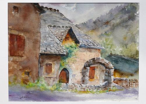 Orage sur les maisons de granite