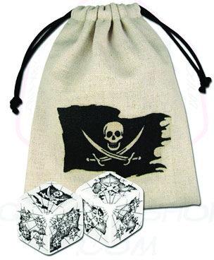 2D6 Pirate Dice w/ Bag
