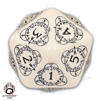 Elven Countdown D20 - White/Black