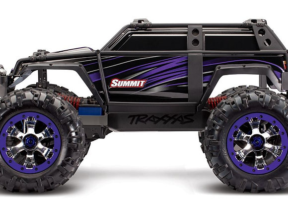 56076-4PURPLE Traxxas Summit RTR 4WD Monster Truck Purple with TQi