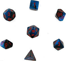 Gemini Black-Starlight/Red 7 Die Set - 26458
