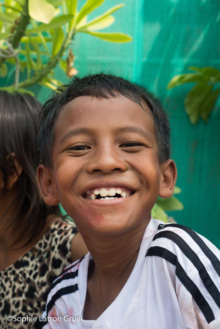 sourire des enfants du Cambodge