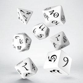 Classic 7 Dice Set - White/Black