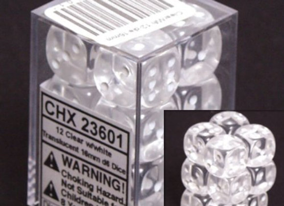 Translucent Clear/White 12D6 - 23601
