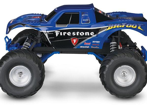 36084-1BLUE Traxxas Bigfoot Firestone 1/10 Scale 2WD Monster Truck - Blue