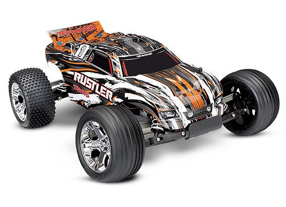 37054-1ORANGE Traxxas Rustler 1/10 RTR Stadium Truck Orange XL-5