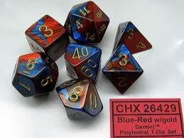Gemini Blue-Red/Gold 7 Die Set - 26429