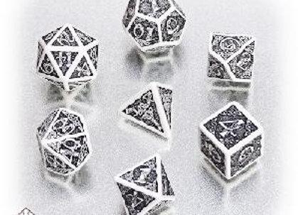 Celtic 7 Dice Set - White/Black