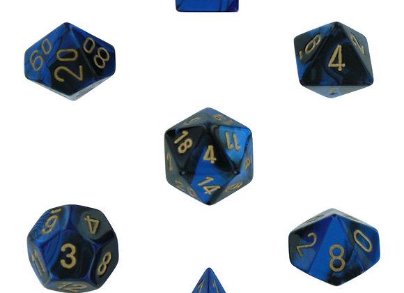 Gemini Black-Blue/Gold 7 Die Set - 26435