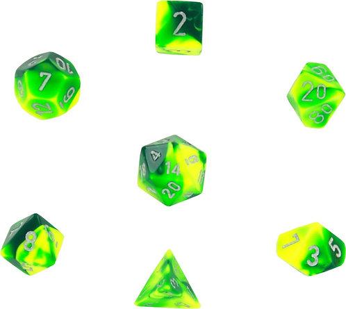 Gemini Green-Yellow w/ Silver 7 Die Set - 26454