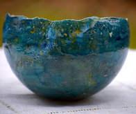 Saladier oeuf bleu