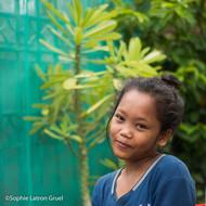 avant l'atelier d'art-thérapie à Phomh Penh