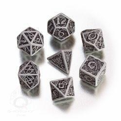 Celtic 7 Dice Set - Grey/Black