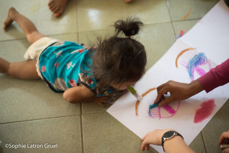 dessin et émotions au Cambodge