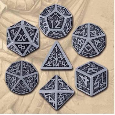 Dwarven 7 Dice Set - Gray/Black