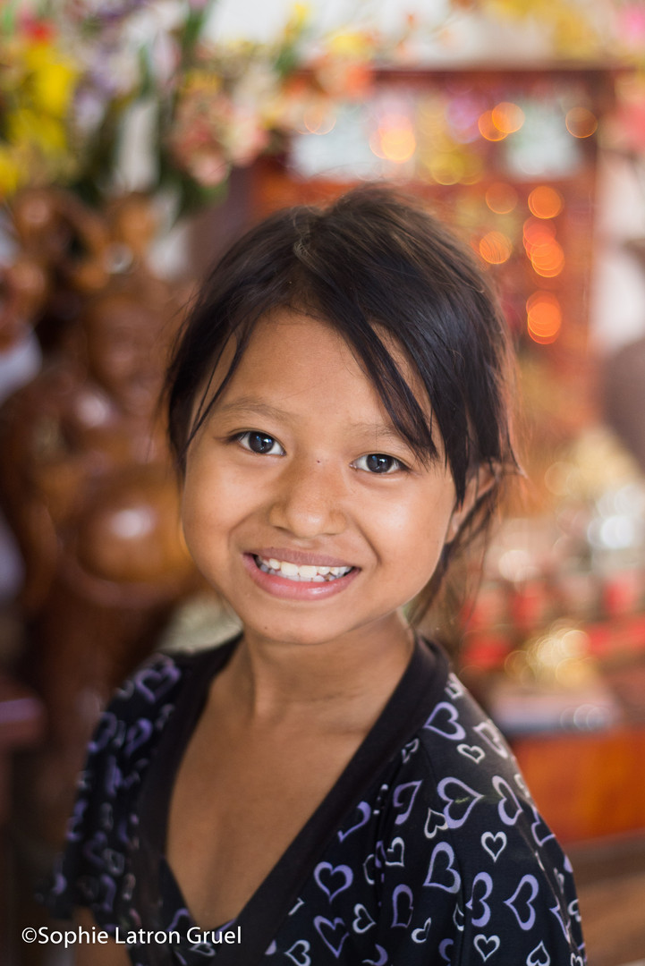 au bidonville, sourire après l'art-thérapie