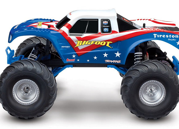 36084-1RWB Traxxas Bigfoot 1/10 Scale 2WD Monster Truck - Red, White & Blue