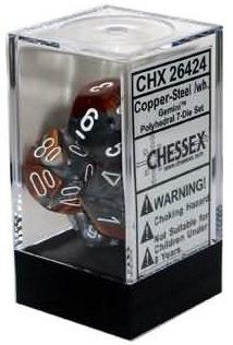 Gemini Copper-Steel/White 7 Die Set - 26424